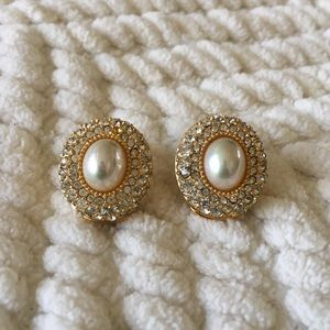Vintage Christian Dior Clip Earrings